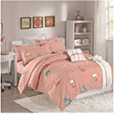 Royberry Double Face Summer Comforter Set for kids 4 Pcs Single, Multi Color B-3