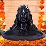 JAIPUR ACE Polyresin Lord Adiyogi Shiva Statue, Small, Orange, 1 Idol