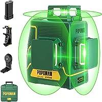 Niveau Laser Vert 3x360° POPOMAN,3D Professionnel Laser Croix 45m, Décoration Intérieure, USB Charge, Autonivellement et…
