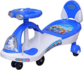 Funride Boost DX Twist and Swing Magic Car with Front and Back LED Lights and Musical Rhymes ( 88 x 25 x 28 cm)- Blue
