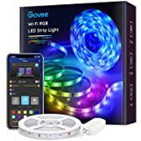 Govee Striscia LED, Smart 5m WiFi RGB Compatibile con Alexa e Google Assistant, App Controllato Musica, Multicolore per casa,
