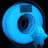 AMOLEN Stampante 3D Filamento PLA 1.75mm, Glow in the Dark Blu 1KG,+/- 0.03mmMateriali di Stampa 3D per Stampante 3D e…