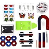 Kinder Wissenschaft Bar Ring Hufeisen Kompass Magnet Car Kit Experiment Tools DE