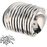 12 stks Shell Cup Handvatten Chrome Iron Half Moon Vintage kast Deur Lade Kast Cupped Handgrepen Pull Knoppen 8.1 cmx3.2 cm m