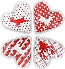 com-four® Taschenwärmer Herz, Handwärmer in Verschiedenen Herz Designs - ideal für kalte Tage