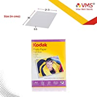 Kodak 180 GSM A4 210x297mm Photo Paper High Glossy