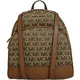 حقيبة ظهر جلد كبيرة الحجم من Michael Kors Abbey متوسطة الحجم باللون البيج الأبنوس الأمتعة