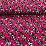 Stoff Softshell | Zebra auf pink | 50cm x 150cm |