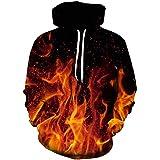 ALISISTER Unisex 3D Hoodie Hombre Mujer Sudadera con Capucha Casual Manga Larga Pullover Sweatshirt con Bolsillos