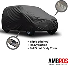 Ambros Premium Grey Car Body Cover Triple Stiched for - Maruti Nexa baleno / Elite i 20 / Jazz