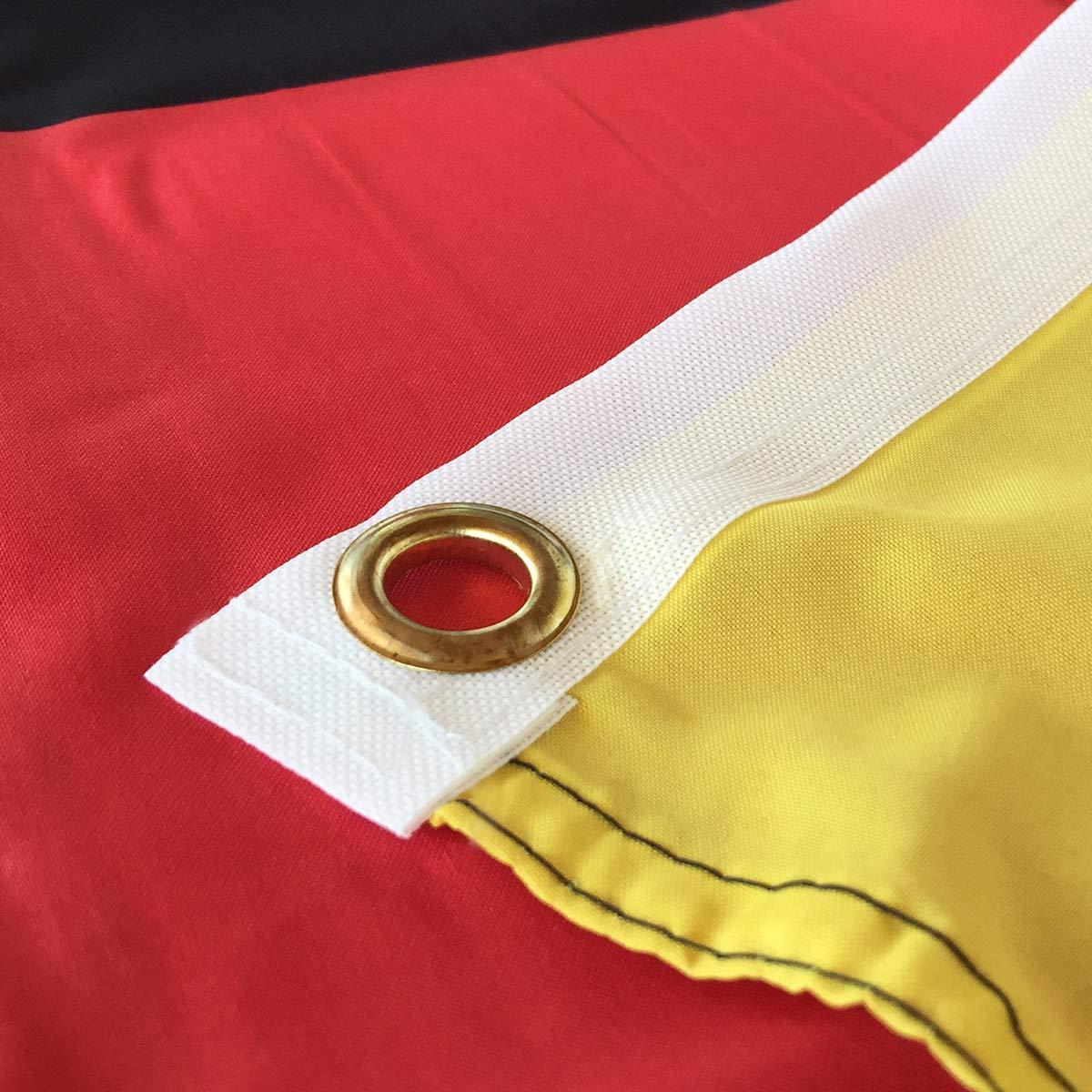 BGFint Deutschland Flagge Fahne mit Adler 150x90cm Stoff 100g/qm