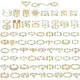 Milacolato 70PCS Ringe Set Damen Vintage Dünn Knöchelringe Stapelbares Gelenk Midi Fingerring Finger Ring Set