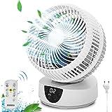 Ventilateur de Bureau, Ventilateur avec Télécommande, Swing Automatique, 9 heures Chronométrées Ventilateurs de Circulation d