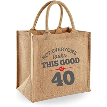 40th Birthday Keepsake Funny Gift Gifts For Women Novelty Ladies Female Looking Good Shopping Bag Present