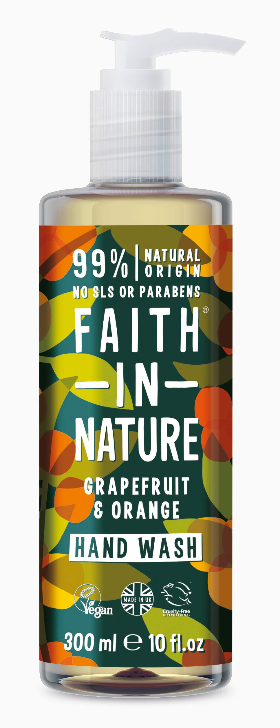 Faith in Nature, Organic Grapefruit and Orange Hand Wash, 300ml