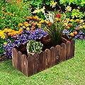 Outsunny® Hochbeet Pflanzkasten Kräuterbeet Pflanzbeet Gemüse Blumenbeet Blumenkasten, Tannenholz von Outsunny auf Du und dein Garten
