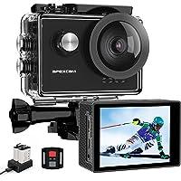 Apexcam Pro Action Cam 4K 60fps WiFi 20MP Unterwasserkamera 40M Wasserdicht 8xZoom EIS 170° Weitwinkel IPS-Panel(2.4G…