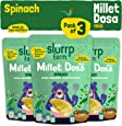Slurrp Farm High Protein Millet Dosa Instant Mix, Supergrains and Spinach, Natural and Healthy Food, 150g (Pack of 3)