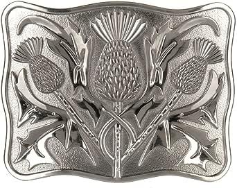 Mens Kilt Belt Buckle Contemporary Thistle