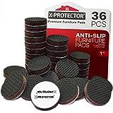 Meubelpads X-PROTECTOR - Antislippads - Premium 36 stuks 25 mm - Vloerbeschermers - Rubberen voetjes voor meubelpoten - Ideal