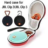 حقيبة تخزين صلبة للسفر من أجل JBL كليب 2 / JBL كليب 3 سماعة بلوتوث لاسلكية محمولة. كابل يو اس بي يناسب – أحمر