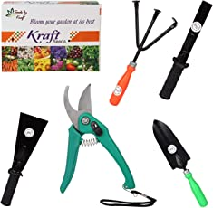 Gate Garden Impressive and Economical Gardening Tools Kit (5 in 1) for Home Garden