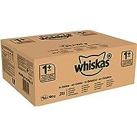 Whiskas Katzen-/Nassfutter Fisch- und Geflügelauswahl in Gelee, Adult 1+, (84 x 100g)