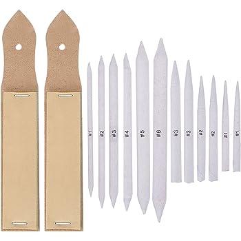 haishell 8/St/ück wei/ß Blending Stumps und tortillons Set Art Mischer Sticks f/ür Student Sketch Zeichenutensilien 8/Gr/ö/ßen 16 Pcs