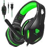 Stynice Cuffie da Gaming con Microfono per PC / PS4 / Xbox One/Laptop/Mac-Stereo Surround Headset con Cuffie morbide con…