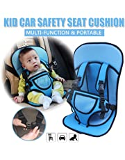 PETRICE Panzl Baby's Adjustable Car Cushion Seat with Safety Belt Multi-Function (Colour May Vary)