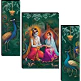 wallmax Set of 3 Religious Modern Art UV Textured Multi Effect 6 MM MDF Framed Wall Painting For Living Room Home Decorated G