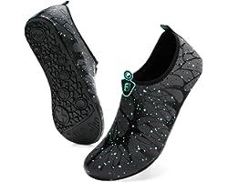 JIASUQI Womens Mens Water Shoes Quick Dry Barefoot Aqua Skin Socks for Beach Swim Pool Surf Yoga Exercise