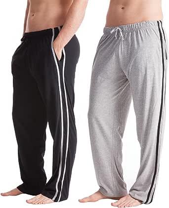 i-Smalls Men's Pack of 2 Jersey Pyjama Lounge Pants Bottoms