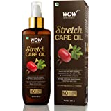 WOW Skin Science Stretch Care Oil to Minimize Stretch Marks & Even Out Skin Tone - Blend of 6 Oils with Rosehip Calendula & S