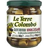 Le Terre di Colombo - Aceitunas Riviera sin hueso en aceite de oliva virgen extra (36%), 212 ml (paquete de 6)