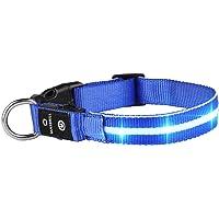 MASBRILL LED Leuchthalsband für Hunde Aufladbar Hundehalsband Leuchtend 100% Wasserdicht 3 Blinkende Lichter…