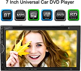 KKmoon 2 Din Autoradio 7 Pollici Universale Auto DVD/USB/SD Lettore HD Bella UI Multimedia BT Radio Intrattenimento Auto Stereo Radio