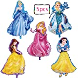5-pack Princess birthday party foil balloon girls Favorite princess birthday party supplies party decorations