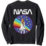 Arc-en-ciel rétro de la navette spatiale de la NASA Sweatshirt