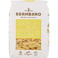 Pasta Sgambaro - Mezze Penne Rigate N. 95 -100% grano duro italiano - 500 gr