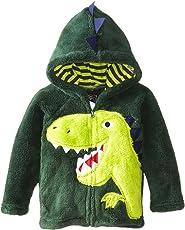 Jungen Fleecejacke Little Hand Kapuzenpullover Kinder Winddicht Dinosaurier-Stickere