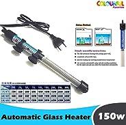 COLOURFUL AQUARIUM® - RS Electrical High Glass Heater to Aquarium Fish Tank | Auto On/Off (150w High Glass Heater)