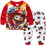 Foryo Boys Super Hero Pajamas Set Summer Kids Nightwear 100% Cotton Cartoon Sleepwears 2-7T