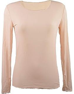 Miss Rouge T-Shirt, sous Pull Femme à Manches