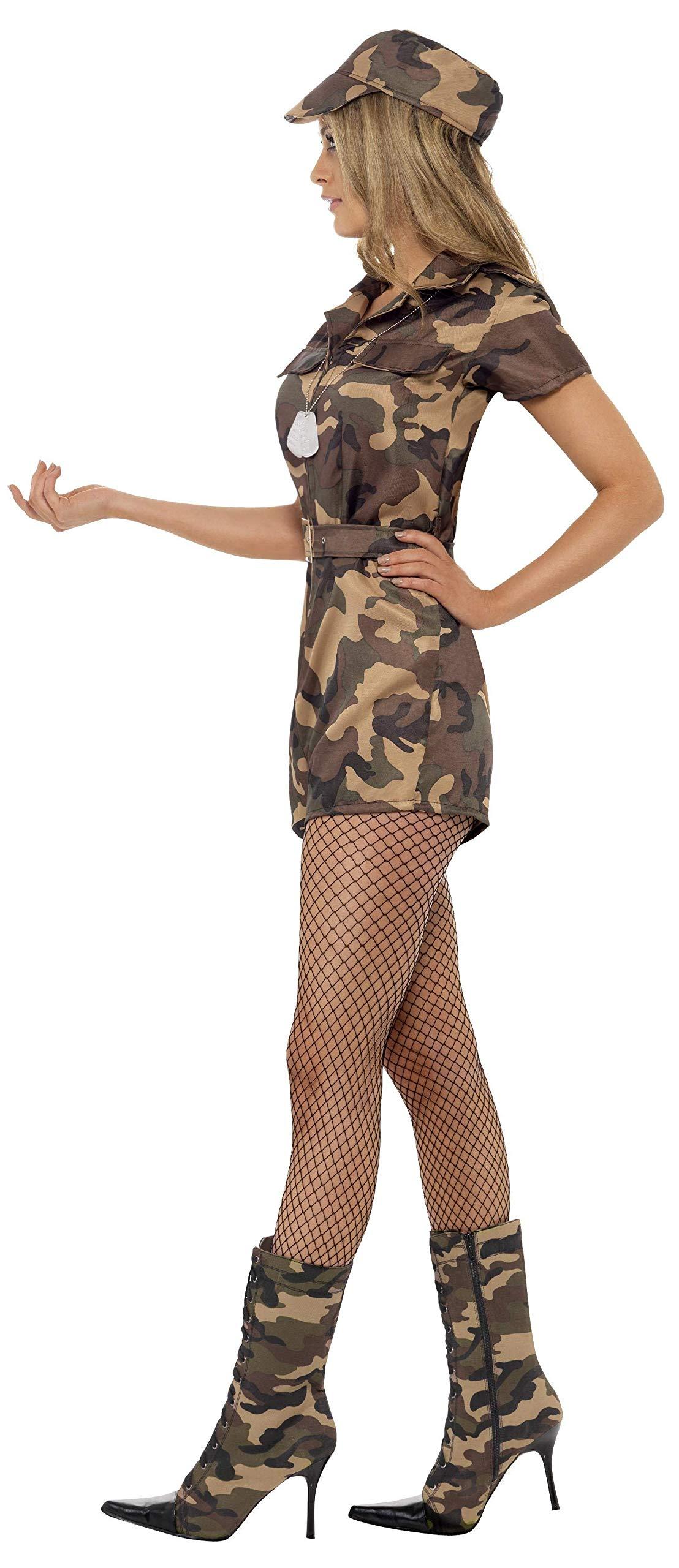 SMIFFYS Costume Ragazza dell'Esercito Sexy, Mimetico, con Tutina, Cintura e Cappello 3 spesavip