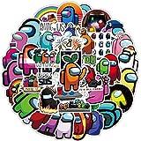 Lanseede 100 Pegatinas de Among Us Sticker Graffiti Stickers con Dibujos Animados para monopatín, Guitarra, portátil, Botella