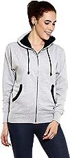 GOODTRY Women's Cotton Hoodies-Grey Melange
