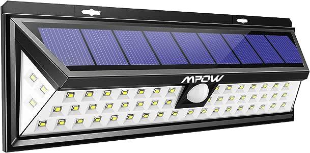 Mpow [54 LED] Lampe Solaire Extérieur Etanche IP65 1188 Lumens Eclairage Exterieur 270 ° Grand Angle Détecteur de Mouvement Paneau Solaire pour Jardin, Cour, Garage,Escaliers, Clôture