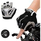 mylovetime Fahrradhandschuhe, Handschuhe Halbfinger Gel Stoßdämpfung Anti-Rutsch Herren Damen für Motorrad Mountainbike Radfa