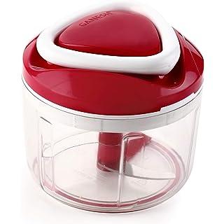 Ganesh Easy Pull Smart Plastic Chopper, 650 ml, Red